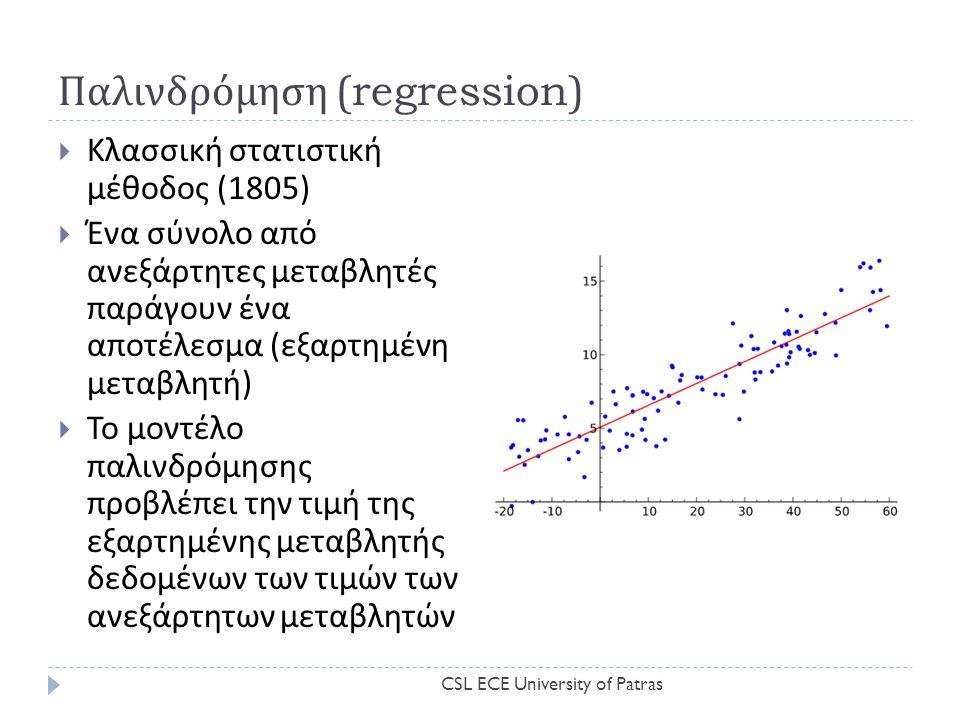 Παλινδρόμηση (regression)