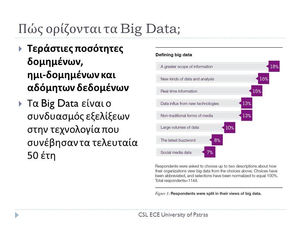 Πώς ορίζονται τα Big Data;