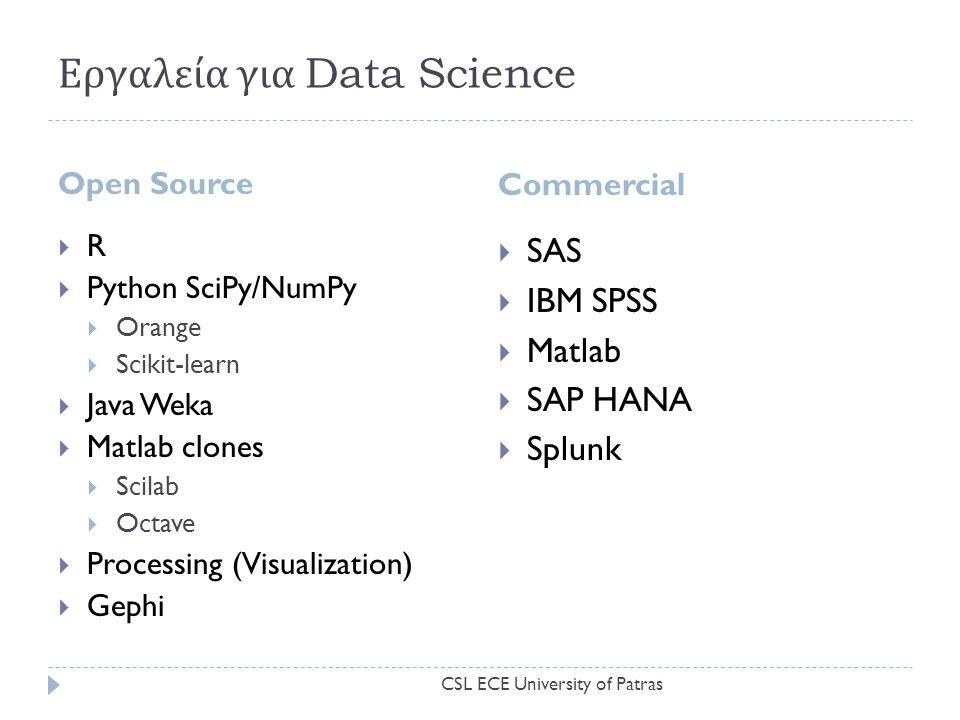 Εργαλεία για Data Science