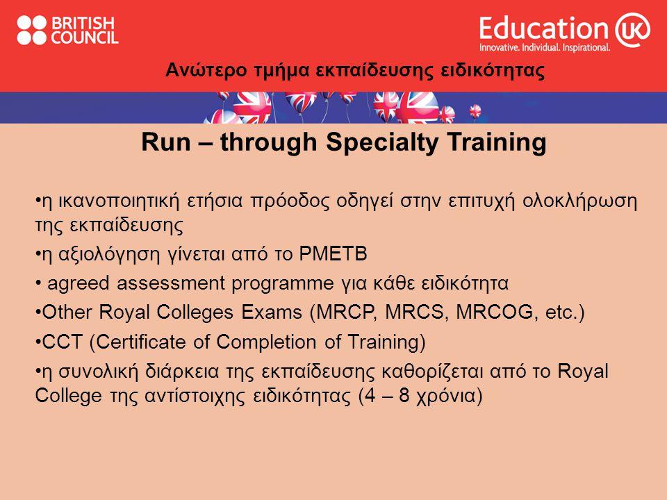 Run – through Specialty Training