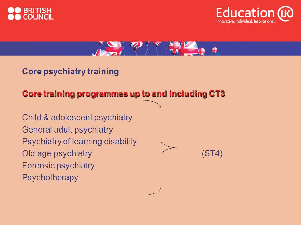 Core psychiatry training
