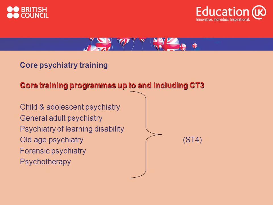 Core psychiatry training