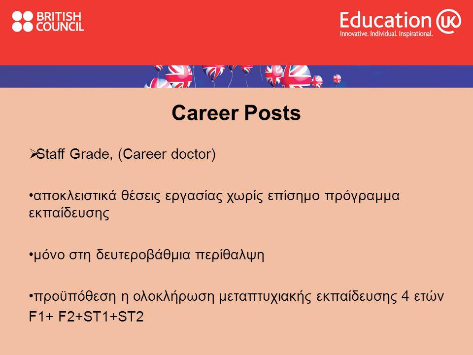 Career Posts Staff Grade, (Career doctor)