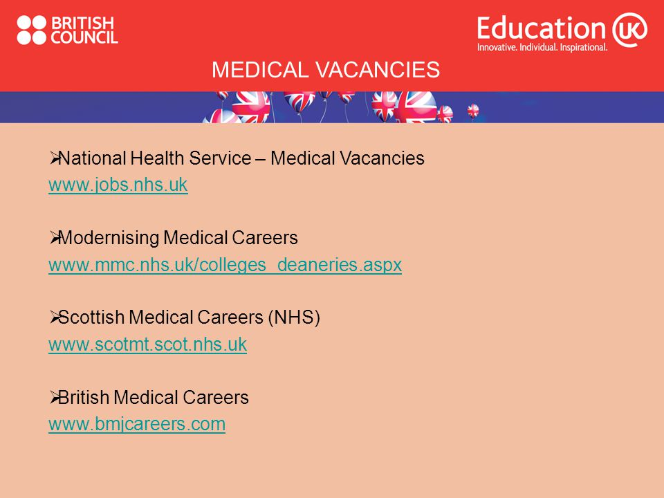 MEDICAL VACANCIES National Health Service – Medical Vacancies