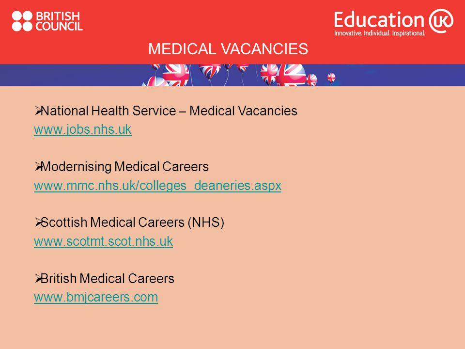 MEDICAL VACANCIES National Health Service – Medical Vacancies