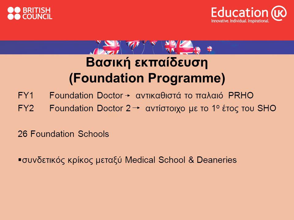 Βασική εκπαίδευση (Foundation Programme)