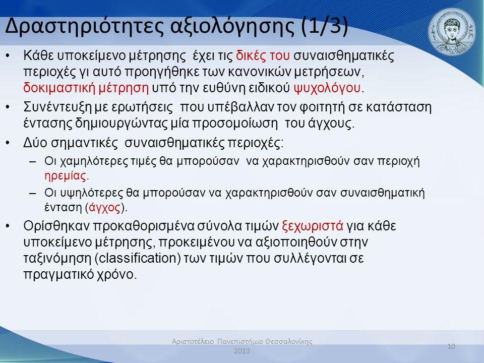 Δραστηριότητες αξιολόγησης (1/3)