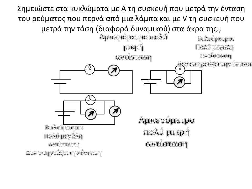 Αμπερόμετρο πολύ μικρή αντίσταση