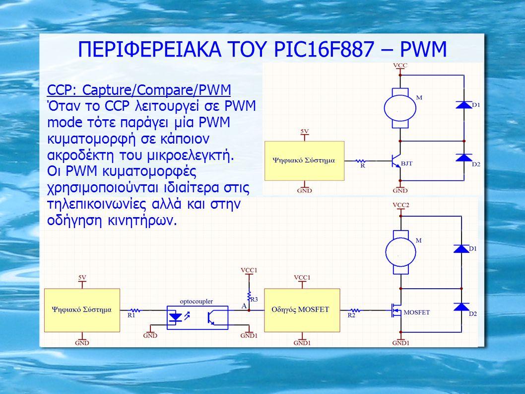ΠΕΡΙΦΕΡΕΙΑΚΑ ΤΟΥ PIC16F887 – PWM