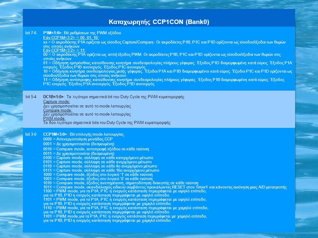 Καταχωρητής CCP1CON (Bank0)
