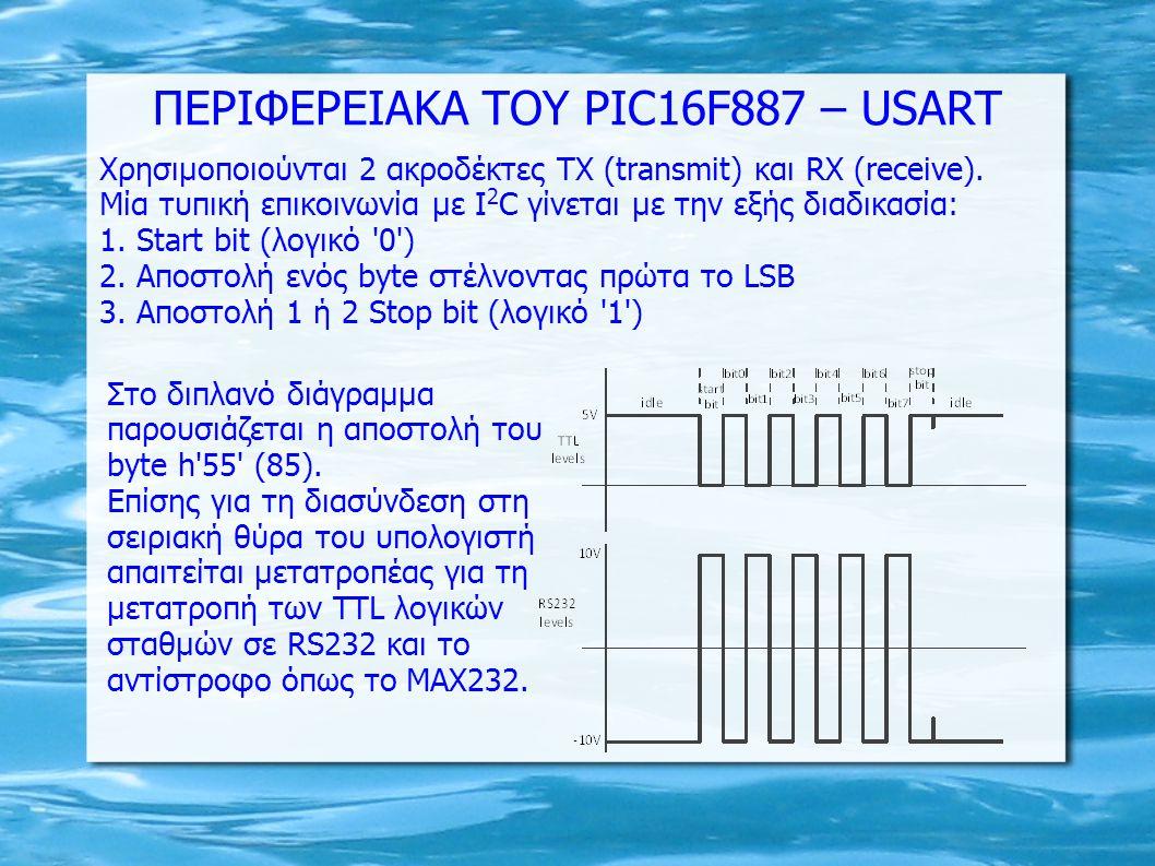 ΠΕΡΙΦΕΡΕΙΑΚΑ ΤΟΥ PIC16F887 – USART