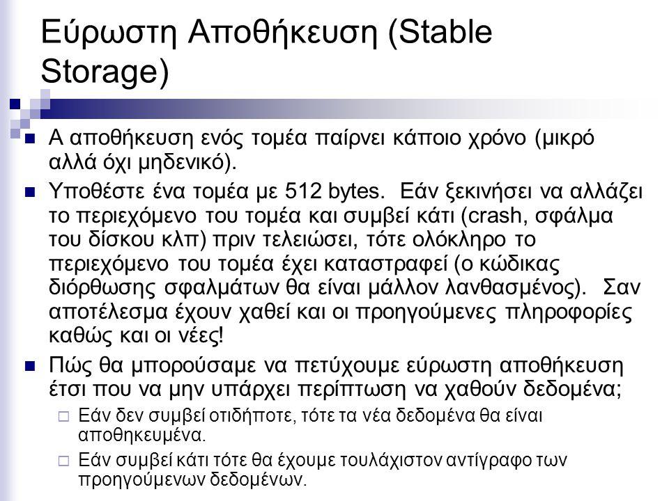 Εύρωστη Αποθήκευση (Stable Storage)
