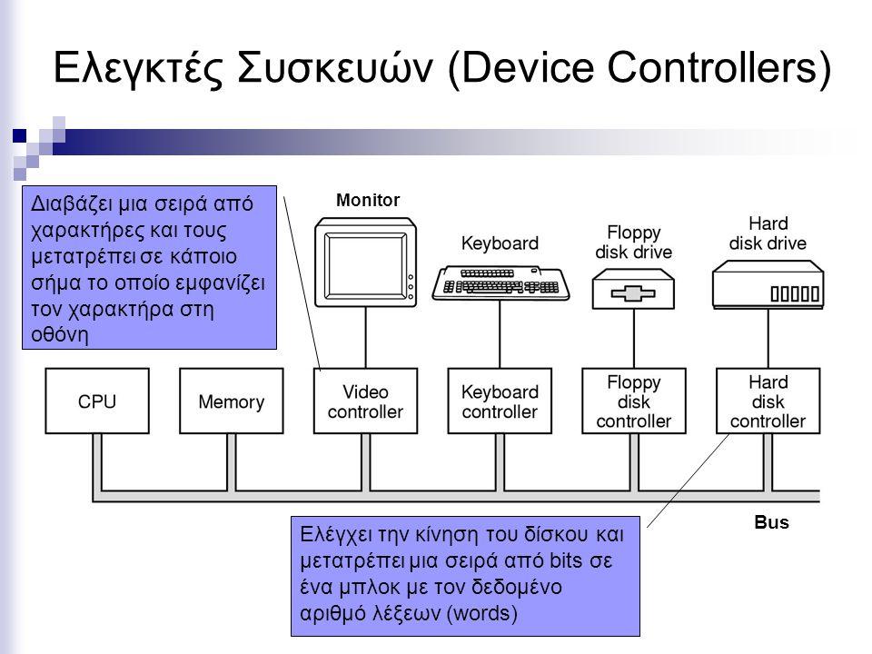 Ελεγκτές Συσκευών (Device Controllers)