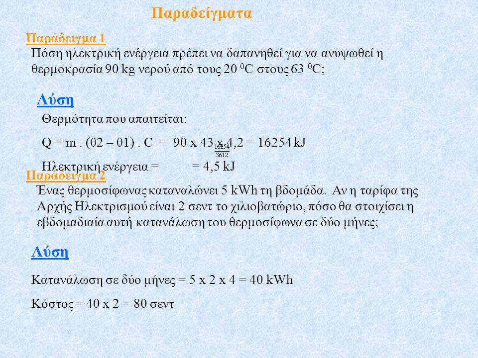 Παραδείγματα Λύση Λύση Παράδειγμα 1