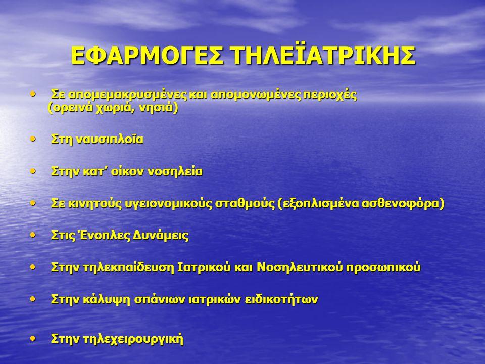 ΕΦΑΡΜΟΓΕΣ ΤΗΛΕΪΑΤΡΙΚΗΣ