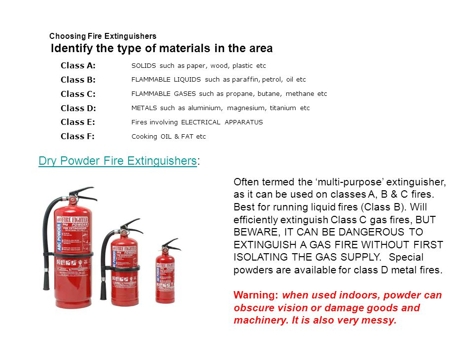 Dry Powder Fire Extinguishers: