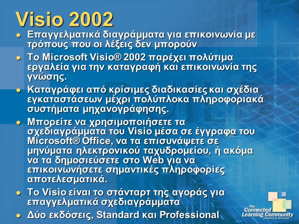 Visio 2002 Επαγγελματικά διαγράμματα για επικοινωνία με τρόπους που οι λέξεις δεν μπορούν.