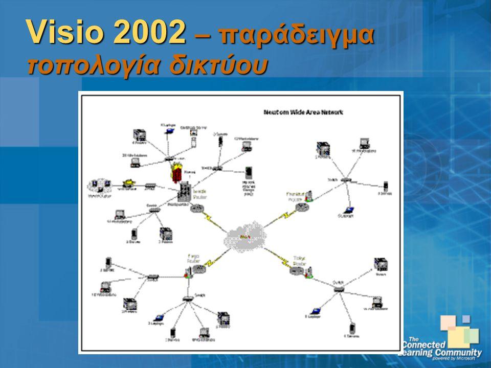 Visio 2002 – παράδειγμα τοπολογία δικτύου