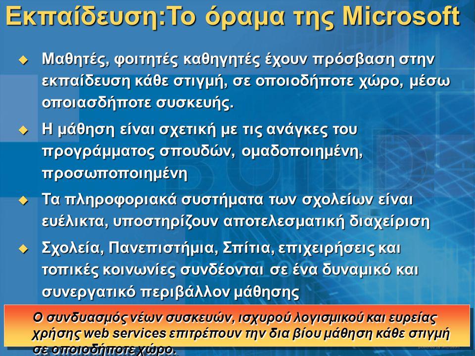 Εκπαίδευση:Το όραμα της Microsoft