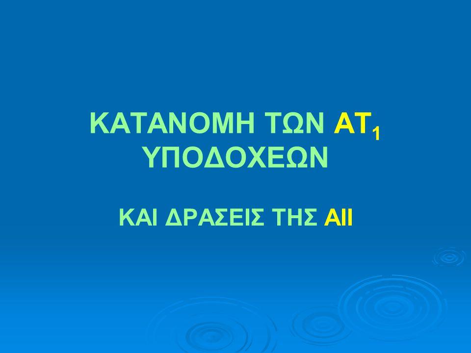 ΚΑΤΑΝΟΜΗ ΤΩΝ ΑΤ1 ΥΠΟΔΟΧΕΩΝ