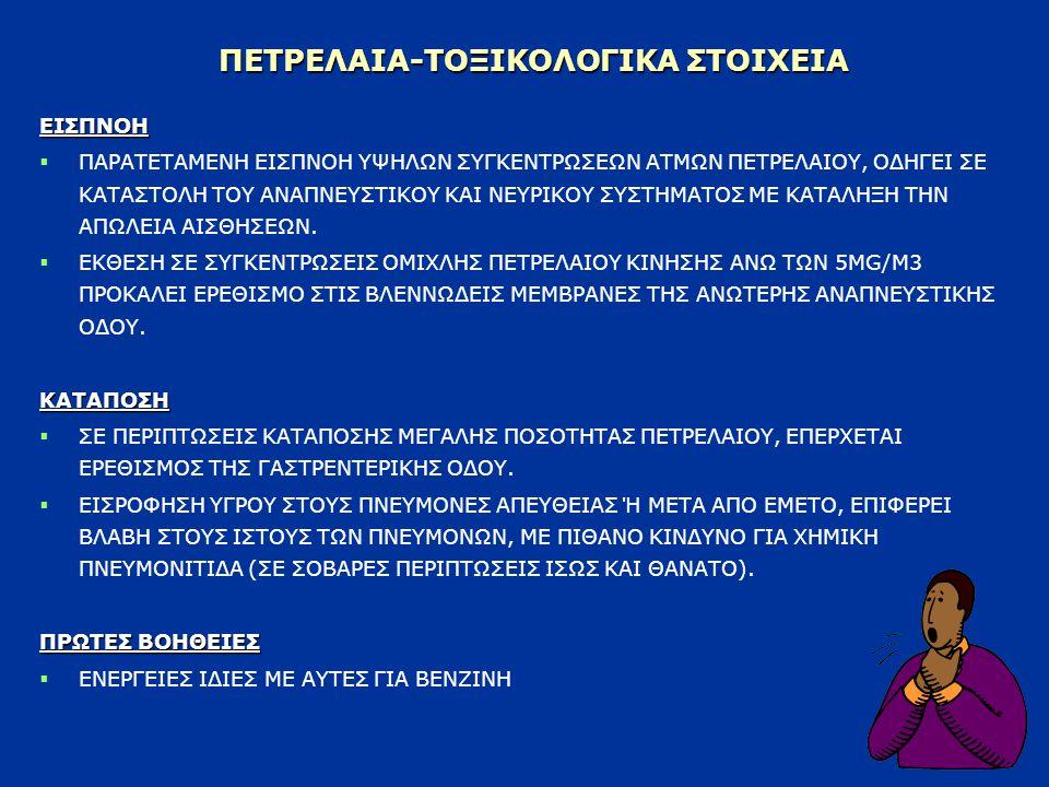 ΠΕΤΡΕΛΑΙΑ-ΤΟΞΙΚΟΛΟΓΙΚΑ ΣΤΟΙΧΕΙΑ
