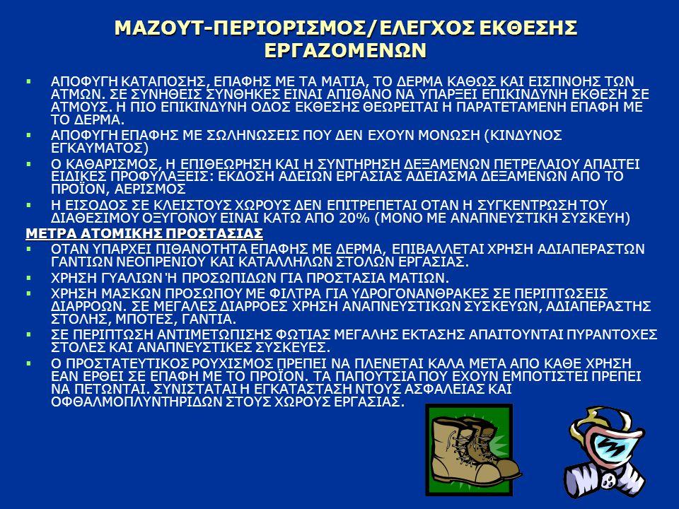ΜΑΖΟΥΤ-ΠΕΡΙΟΡΙΣΜΟΣ/ΕΛΕΓΧΟΣ ΕΚΘΕΣΗΣ ΕΡΓΑΖΟΜΕΝΩΝ