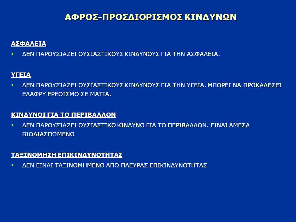 ΑΦΡΟΣ-ΠΡΟΣΔΙΟΡΙΣΜΟΣ ΚΙΝΔΥΝΩΝ