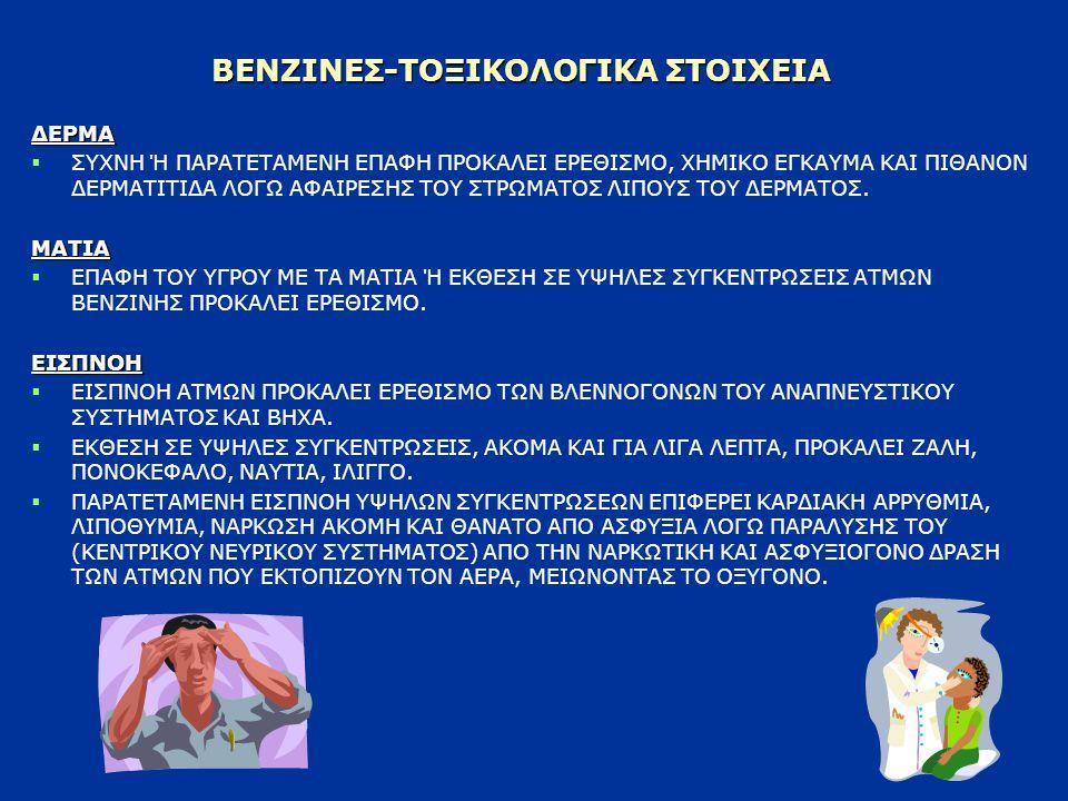 ΒΕΝΖΙΝΕΣ-ΤΟΞΙΚΟΛΟΓΙΚΑ ΣΤΟΙΧΕΙΑ
