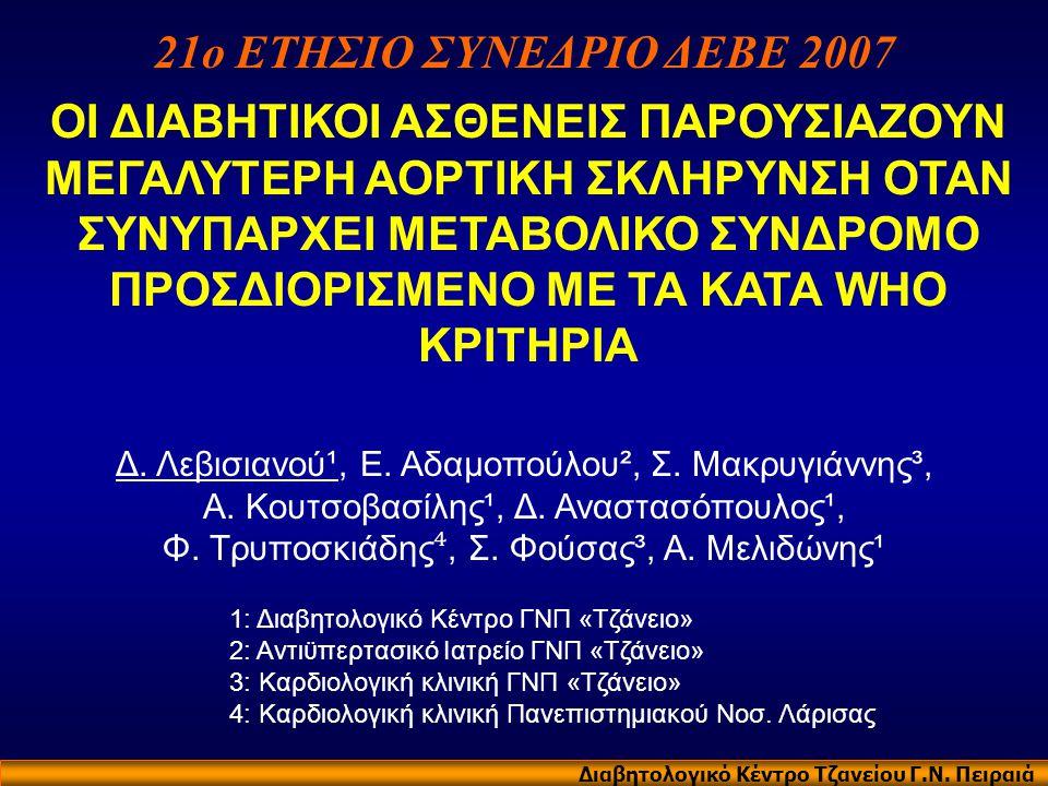 21ο ΕΤΗΣΙΟ ΣΥΝΕΔΡΙΟ ΔΕΒΕ 2007