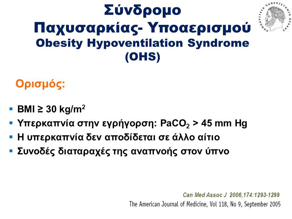 Σύνδρομο Παχυσαρκίας- Υποαερισμού Obesity Hypoventilation Syndrome (OHS)