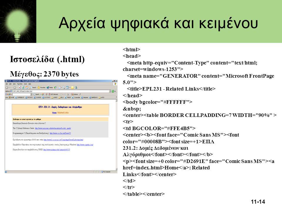 Αρχεία ψηφιακά και κειμένου