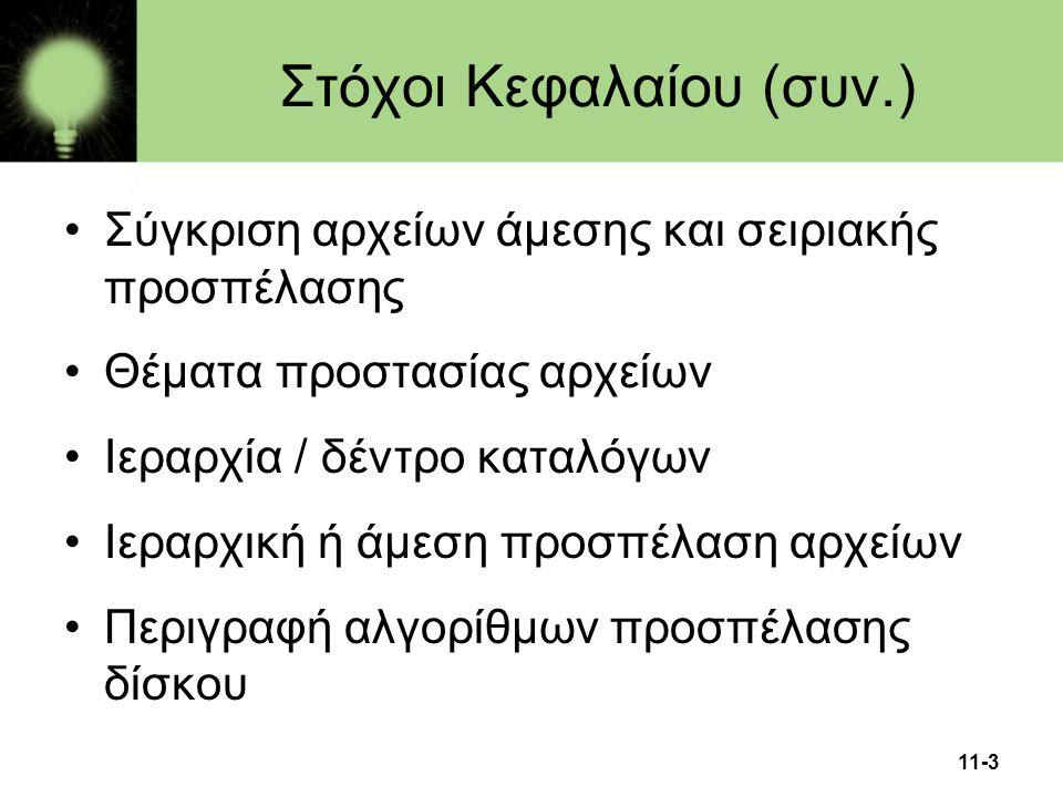 Στόχοι Κεφαλαίου (συν.)