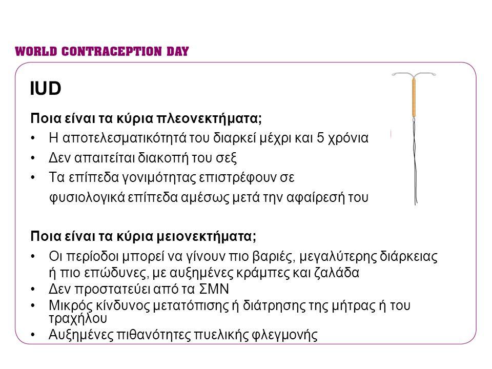 IUD Ποια είναι τα κύρια πλεονεκτήματα;