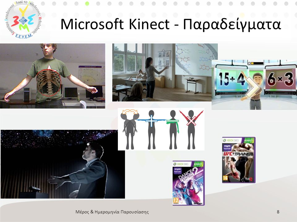 Microsoft Kinect - Παραδείγματα