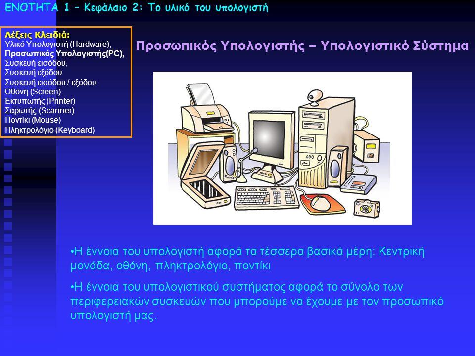 Προσωπικός Υπολογιστής – Υπολογιστικό Σύστημα