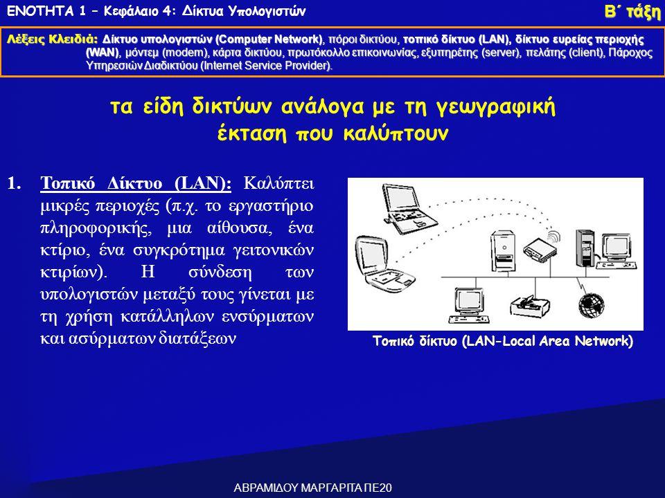 Τοπικό δίκτυο (LAN-Local Area Network)