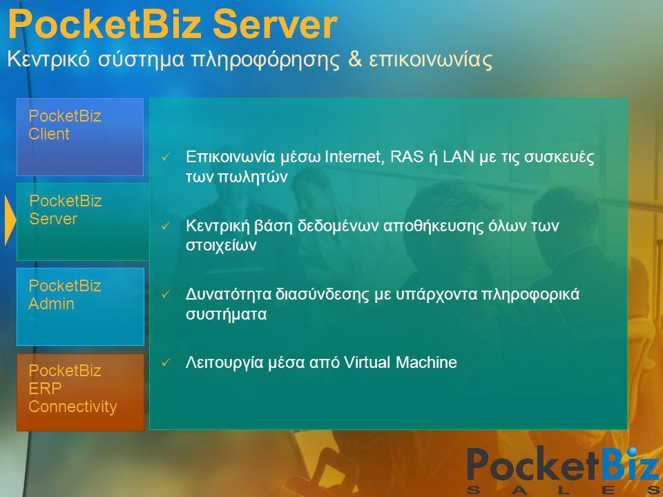 PocketBiz Server Κεντρικό σύστημα πληροφόρησης & επικοινωνίας