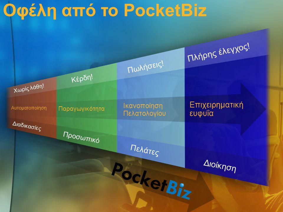 Οφέλη από το PocketBiz Πλήρης έλεγχος! Διοίκηση Πωλήσεις!