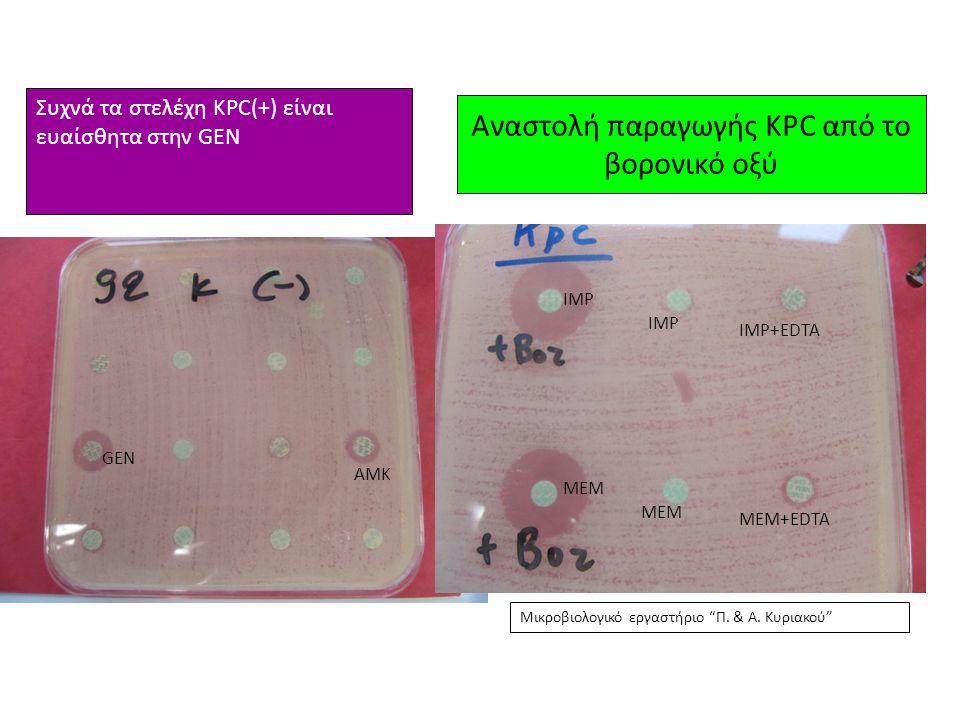 Αναστολή παραγωγής KPC από το βορονικό οξύ