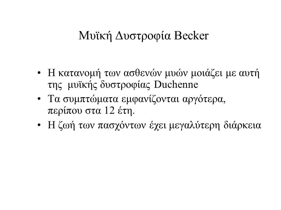 Μυϊκή Δυστροφία Becker