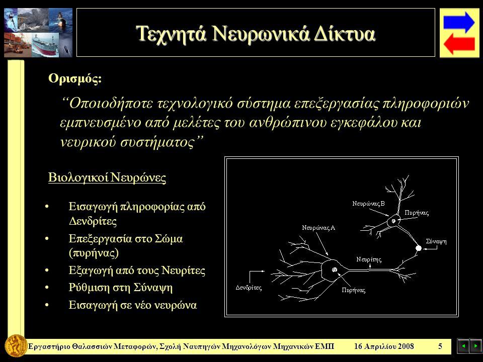 Τεχνητά Νευρωνικά Δίκτυα