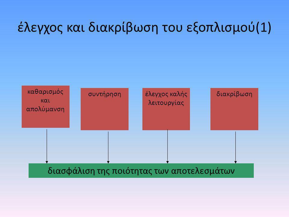 έλεγχος και διακρίβωση του εξοπλισμού(1)