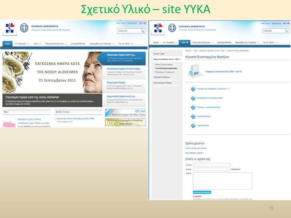 Σχετικό Υλικό – site YYKA