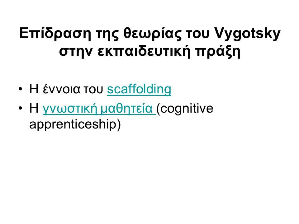 Επίδραση της θεωρίας του Vygotsky στην εκπαιδευτική πράξη