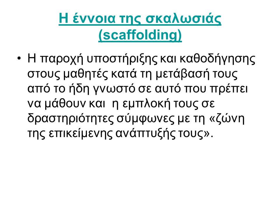 Η έννοια της σκαλωσιάς (scaffolding)