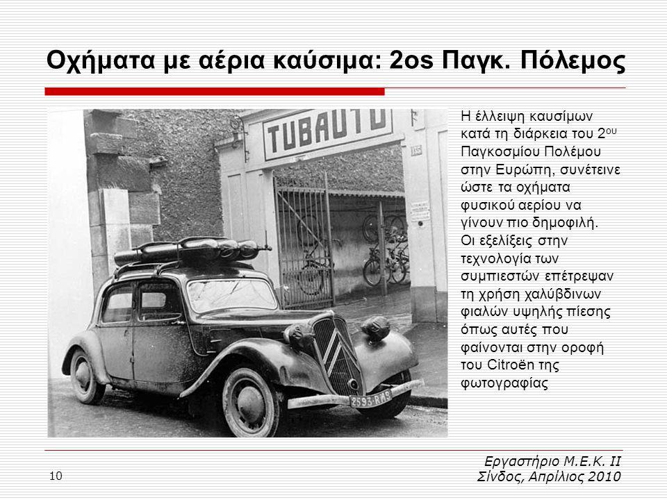 Οχήματα με αέρια καύσιμα: 2os Παγκ. Πόλεμος