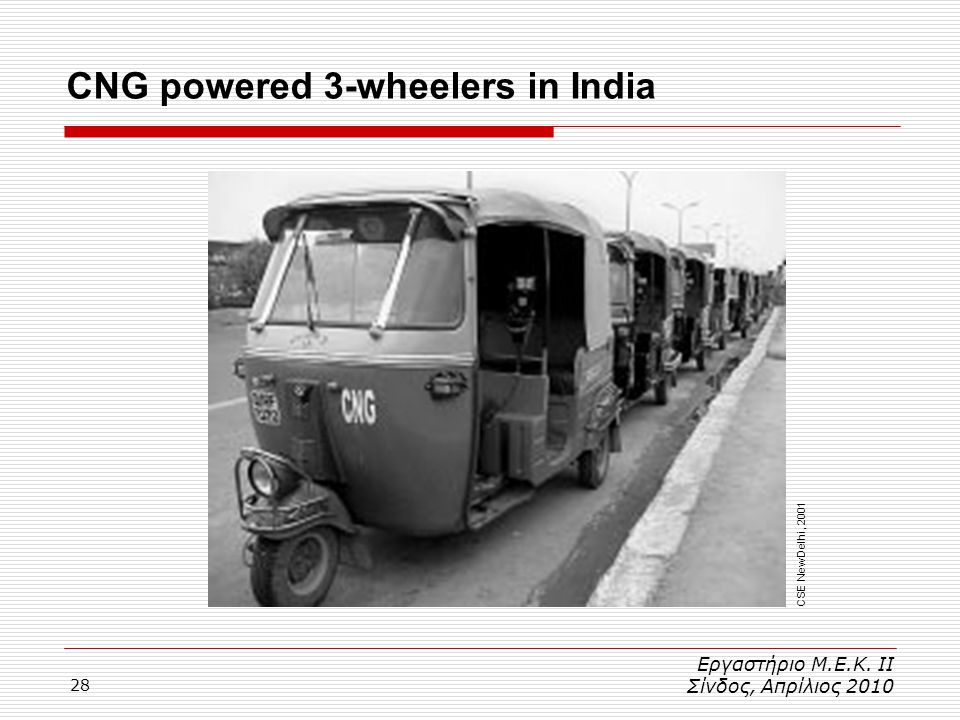 CNG powered 3-wheelers in India