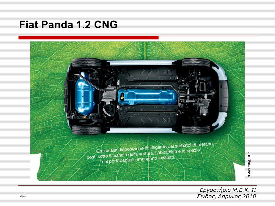 Fiat Panda 1.2 CNG Εργαστήριο Μ.Ε.Κ. ΙΙ Σίνδος, Απρίλιος 2010