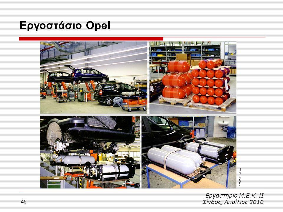 Εργοστάσιο Opel www.cng.cz Εργαστήριο Μ.Ε.Κ. ΙΙ Σίνδος, Απρίλιος 2010