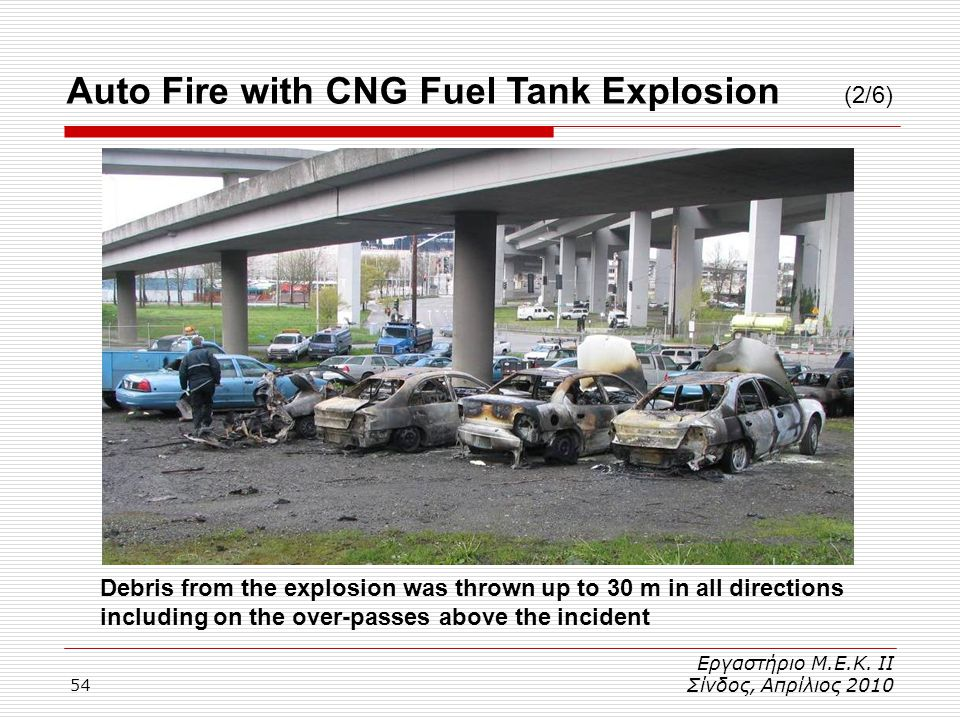 Auto Fire with CNG Fuel Tank Explosion (2/6)